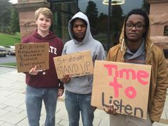 Anonymous racist posts on social media network prompt Colgate students to stage sit-in, now entering third day #canyouhearusnow #sothisiscolgate