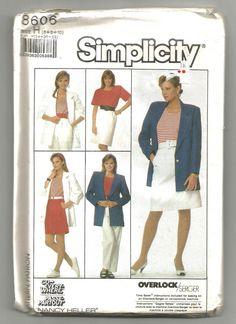 Check out this item in my Etsy shop https://www.etsy.com/listing/463279497/uncut-8606-simplicity-sewing-pattern