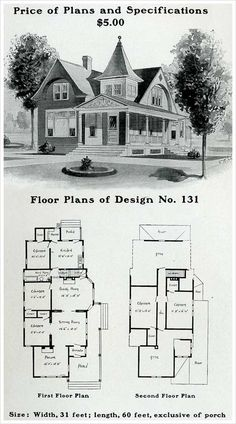 1903 - 'The unusual square tower with its flared roof is relatively unusual in Queen Anne style architecture. Free classical elements in the pedimented porch are combined with recessed arches over second story windows.'