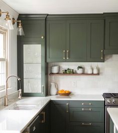 Green Cabinets, Kitchen Cabinets, Green Kitchen, Kitchen Colors, Types Of Wood, More Fun, Flooring, Interior, Feel Like
