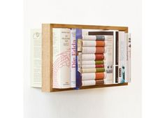 Great simple way of storing books // Shoppable