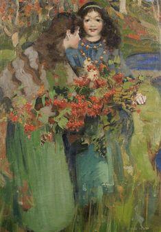 George Henry | 1858-1943, Scotland  (19th-20th century art / art nouveaux / portrait artist)