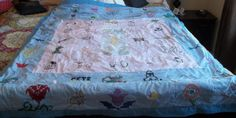 Quilt Quilted Blanket Handmade Blanket by SuzyQsVintageShop, $24.75