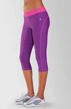 Amoena Berry & Pink Yoga Running Fitness Capri - Womens size L 12-14 #Amoena #PantsTightsLeggings