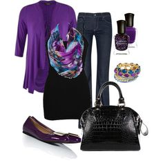 """Purple Work Outfit"" by chelseawate on Polyvore"
