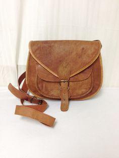 Saddle bag purse,cross body saddle bag, Saddle shoulder Bag Leather Purse light  Brown
