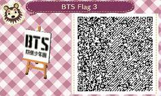 I forgot to post this white version of the BTS logo flag