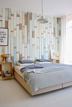 39 Jaw-dropping wood clad bedroom feature wall ideas