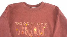 Woodstock #Vermont Sweatshirt Mens SZ S Unisex Womens http://etsy.me/1CtVhLt #etsyfind #clothes #thrifting #vintage