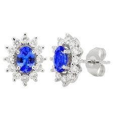 14K White Tanzanite and Diamond Earrings 1.81 TCW - http://www.tanzanite.com/product-p/tze26372.htm