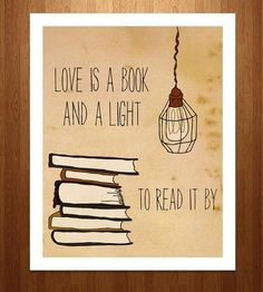 """Love Is A Book Art Print 