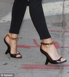 Suffering from a bit of shoe envy.  Love these Tom Ford wedges.  Definitiely going to be one of the shoes of the season.