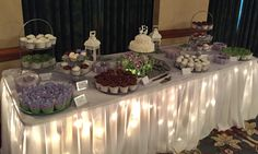 Cake and cupcake table at the CLC- Monumental Weddings and Events.