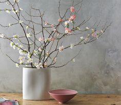 Spring flower arrangements: Bouquet of branches Spring Flower Arrangements, Spring Flowers, Floral Arrangements, Spring Bouquet, Ikebana, Deco Floral, Arte Floral, Floral Design, Cherry Blossom Decor
