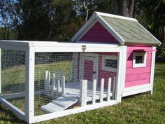 RABBIT GUINEA PIG HUTCH CAGE RUN Somerzby COTTAGE - PINK and WHI | Pet Products | Gumtree Australia Gosford Area - Somersby | 1010279241