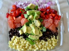 Black bean, avocado, citrus quinoa salad!
