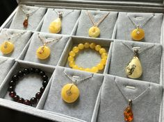 Natural Baltic Amber pendants