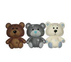 Wool Felt Bears, Tatty Teddy, Brown Bear, Gray Bear, White Bear, Woodland Animals, Kidsroom Decor, Nursery Decor, Baby Decor