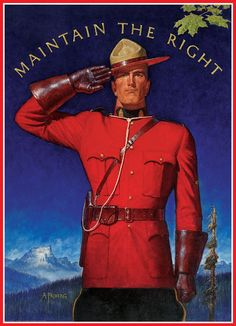 RCMP Maintain the Right. 1000 pieces. Painting by A. Friberg.
