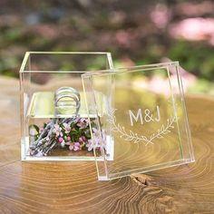 Ringbox aus Acryl, Alternative zum Ringkissen, Box mit Gravur, personalisiert, Hochzeit