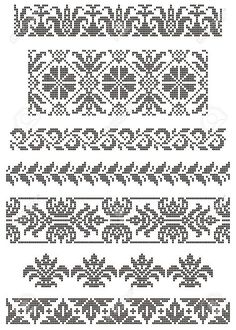 Designing Your Own Cross Stitch Embroidery Patterns - Embroidery Patterns Cross Stitch Sampler Patterns, Cross Stitch Borders, Cross Stitch Designs, Cross Stitching, Border Embroidery, Hand Embroidery Designs, Cross Stitch Embroidery, Embroidery Patterns, Folk Embroidery