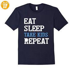 Eat Sleep Take Kids Repeat t-Shirt Herren, Größe M Navy (*Partner-Link)