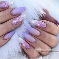 Glitter Lilac Nails Design Are you a fan of a lilac co. Glitter Lilac Nails Design Are you a fan of a lilac color? Explore cute things in lilac shades: from fashion to room decor and wallpaper to nails and hair. Lilac Nails Design, Purple Nail Designs, Acrylic Nail Designs Glitter, Stiletto Nail Designs, Acrylic Nail Designs For Summer, Acrylic Nail Designs Coffin, Coffin Nails Designs Summer, Bright Nail Designs, Beautiful Nail Designs