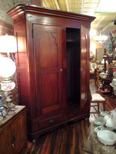 """""""They open a door and enter A World"""" – C.S. Lewis The Lion, the Witch, and the Wardrobe   Gorgeous Walnut Two Door Knockdown Wardrobe"""