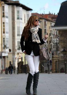 ¡Sin miedo! ¡Usa tu pantalón blanco en invierno! | Web de la Moda