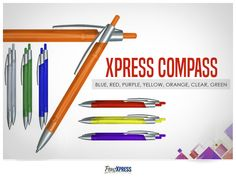 Business Pens, Compass, Vibrant Colors, Personality, Slim, Let It Be, Money, Purple, Red