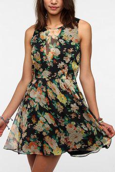 DV By Dolce Vita Sheer V Chiffon Delyth Dress  #UrbanOutfitters