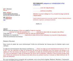 modèle ordre de démarrage et commencement travaux en word et pdf