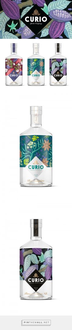 Curio Spirits by Kingdom & Sparrow. Source: Behance. Pin curated by #SFields99 #packaging #design
