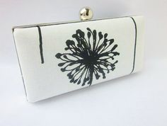 black and white clutch/minaudiere/Bridesmaid by VincentVdesigns, $48.00