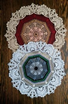 Crochet napkins, non-trivial 0 Crochet Table Runner, Crochet Tablecloth, Crochet Doilies, Crochet Hats, Thread Crochet, Filet Crochet, Irish Crochet, Crochet Stitches, Crochet Mandala Pattern