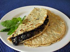 Quesadillas de huitlacoche. El huitlacoche es la trufa mexicana, manjar de los Dioses