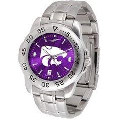 Kansas State University Men's Stainless Steel Wristwatch