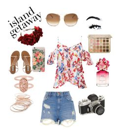"""Island Getaway"" by newsies-forever ❤ liked on Polyvore featuring River Island, Tanya Taylor, Chloé, Kendra Scott, Red Camel, Marc Jacobs, Rock 'N Rose and Rifle Paper Co"