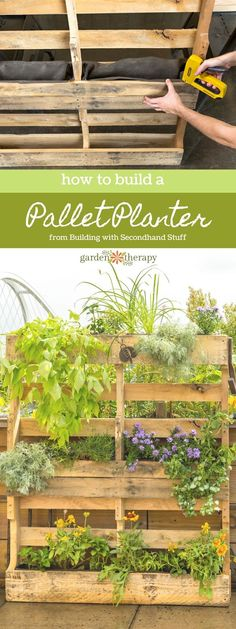 How to Build a Wood Pallet Planter with Secondhand Stuff