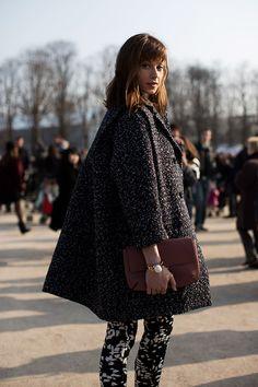 oversized coat & print pants #style #fashion #streetstyle