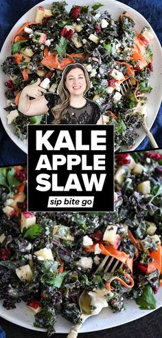Kale apple slaw is a light vegetarian side dish recipe with creamy dressing. It's easy and delicious and a healthy raw kale salad everyone can agree on. Made with dried cranberries, it's a perfect… More