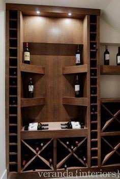 Wine cellar under stairs contemporary wine cellar #WineStorage #WineCellar