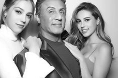 Sylvester Stallone shared the photo with her daughters Sofia and Sistin #actor #celebrity #famous #star #SylvesterStallone #men #cool #great #perfect #style #fashion #beautiful #lovely #nice #pretty #cute #hot #wow #love #favorite #ideal #selfie