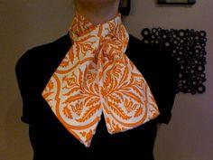 damask orange scarf #DIY #fashion #apparel #scarves #accessories
