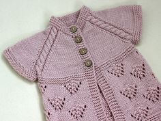 Pink Vest Hand Knit Baby girl dusty pink vest by CrochetKidsStyle