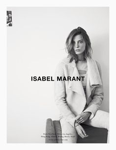 isabel marant fall campaign1 Isabel Marant Taps Daria Werbowy for Fall 2013 Campaign