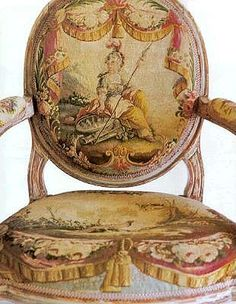 French Aubusson chair