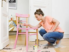 How to Paint Furniture - The 5 Biggest Mistakes You Make When Painting Furniture - Country Living (Diy Furniture Redo) Old Furniture, Refurbished Furniture, Quality Furniture, Repurposed Furniture, Furniture Projects, Furniture Makeover, Chair Makeover, Diy Furniture Refinishing, Painted Wood Furniture