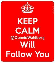 Keep Calm W/ @NKOTB @DonnieWahlberg