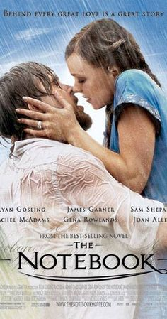 Directed by Nick Cassavetes.  With Gena Rowlands, James Garner, Rachel McAdams, Ryan Gosling. A poor yet passionate young man falls in love with a rich young woman, giving her a sense of freedom, but they are soon separated because of their social differences.